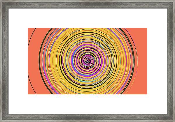 Radical Spiral 19023 Framed Print by REVAD David Riley