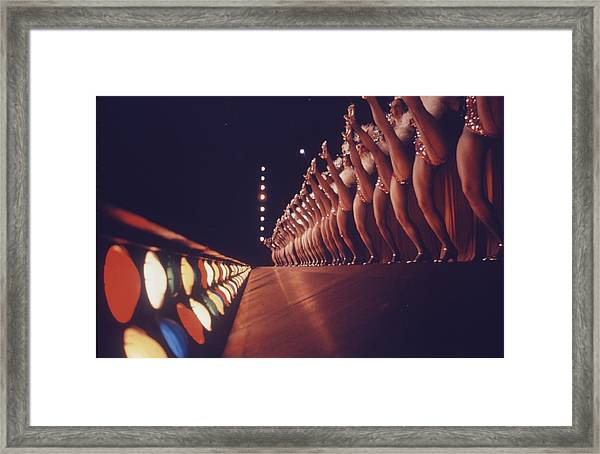 Radio City Music Hall Rockettes Framed Print by Art Rickerby