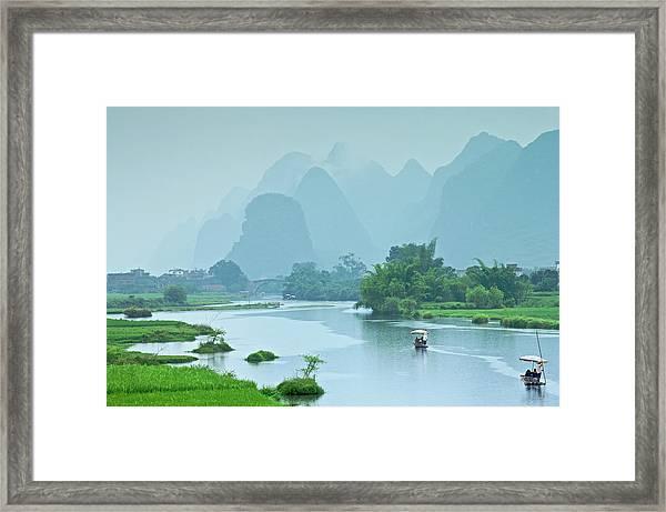 Rafting In China Framed Print