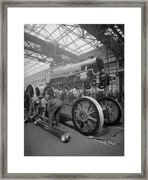 Rail Depot Framed Print