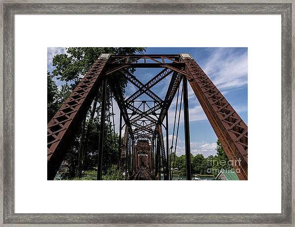 Railroad Bridge 6th Street Augusta Ga 2 Framed Print