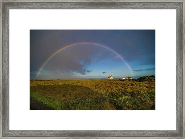 Rainbow At Point Cabrillo Framed Print