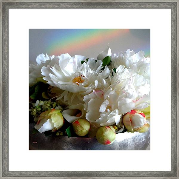 Rainbow Buds N' Blooms Three Framed Print