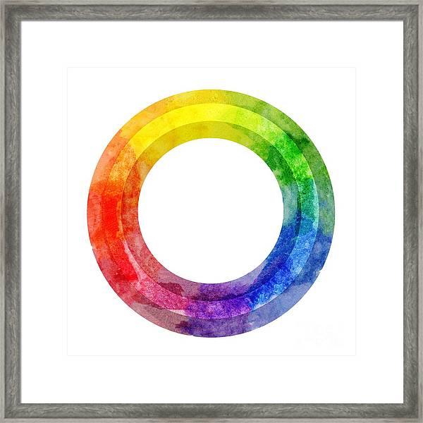 Rainbow Color Wheel Framed Print