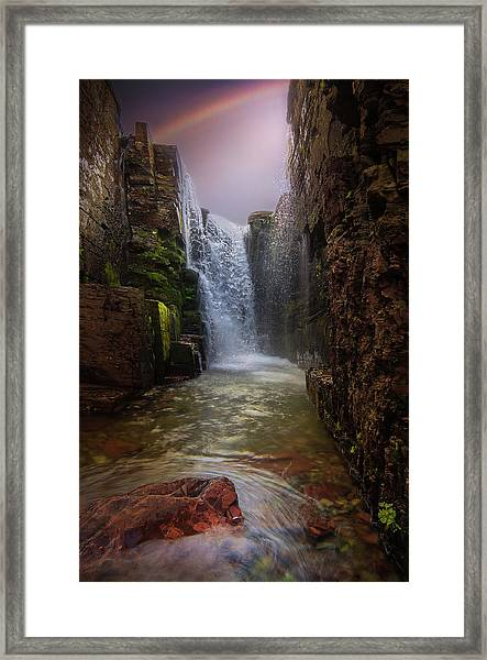 Triple Falls / Glacier National Park  Framed Print