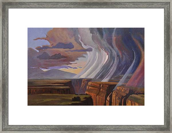Rainbow Of Rain Framed Print