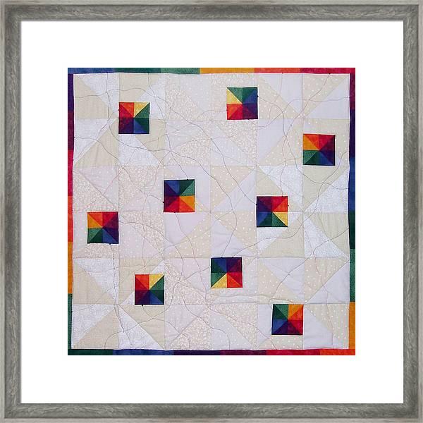 Rainbow Pinwheel Framed Print