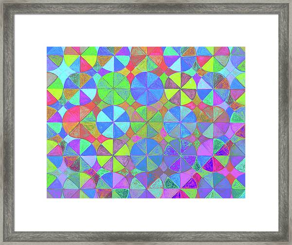 Rainbow Shard Framed Print