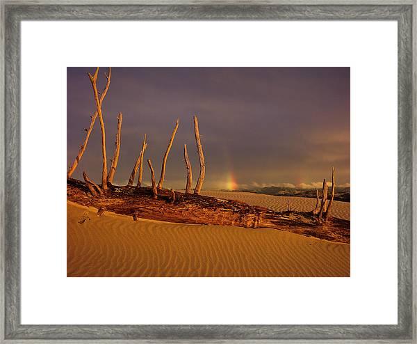Rainy Day Dunes Framed Print