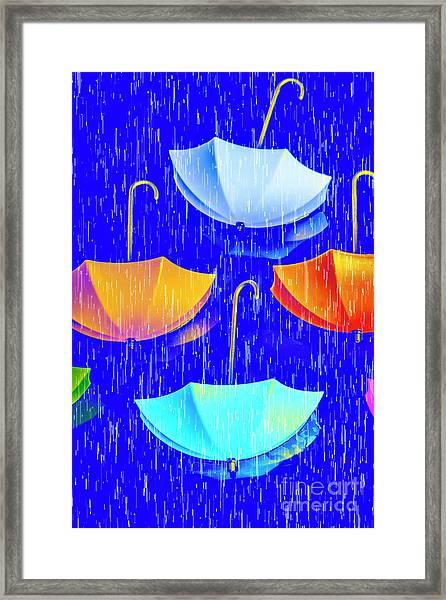 Rainy Day Parade Framed Print