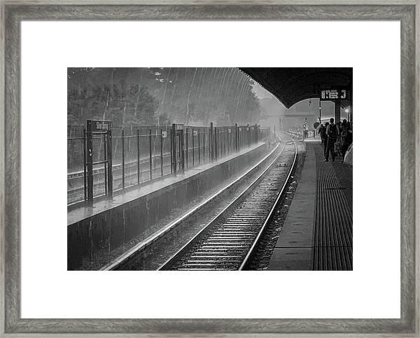 Rainy Days And Metro Framed Print