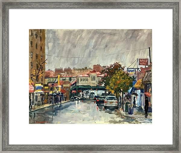 Rainy Morning 231st Street The Bronx Framed Print