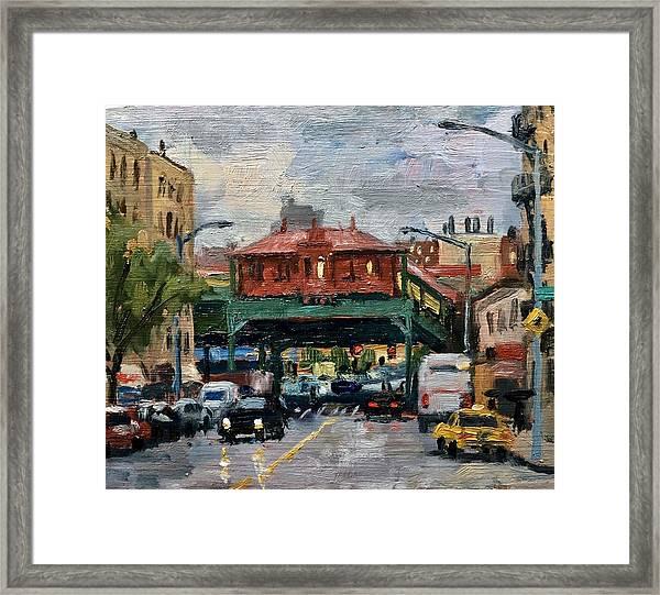 Rainy Morning 238th Street The Bronx Framed Print