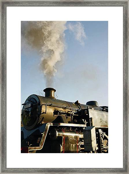 Ramsbottom. East Lancashire Railway. Locomotive 80080. Framed Print