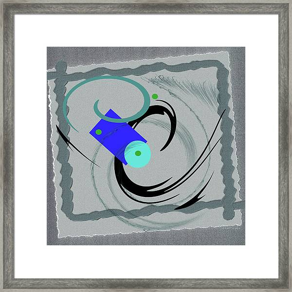 Randomness Variations 5, On Paper Montage Framed Print