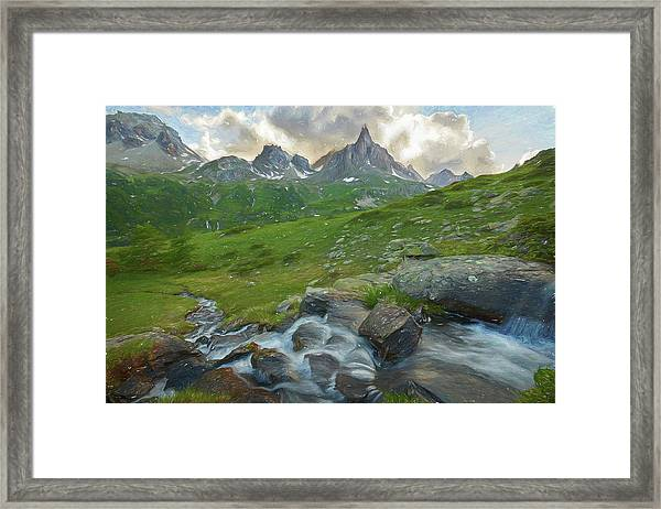 Range In The Claree Valley II Framed Print