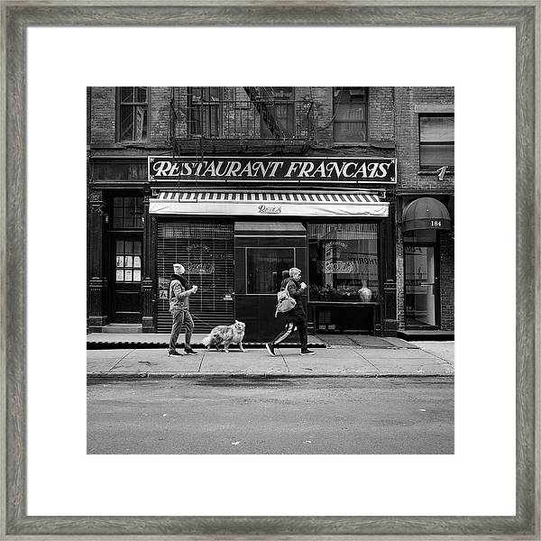Raoul's In Black And White Framed Print by Michael Gerbino