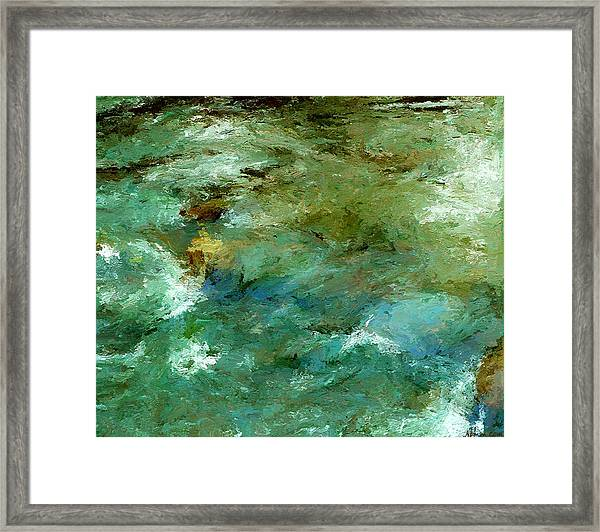 Rapidly Passing Framed Print
