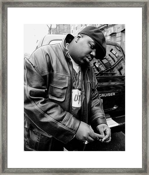 Rapper Notorious B.i.g., Aka Biggie Framed Print