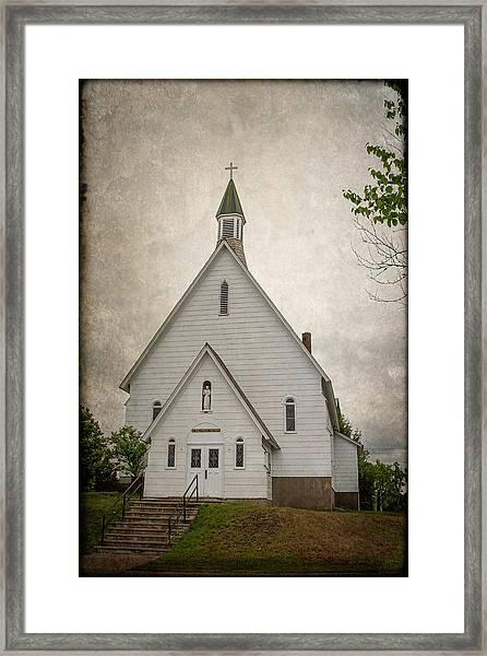 Raquette Lake Chapel Framed Print