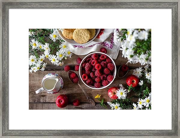 Raspberry Breakfast Framed Print