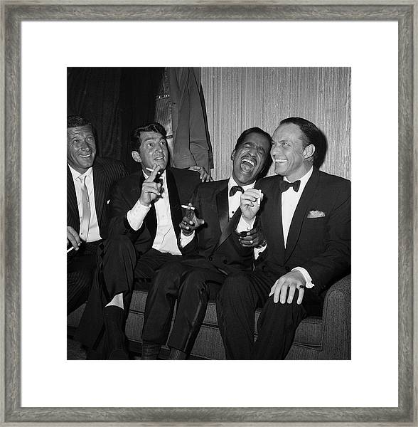 Rat Pack At Carnegie Hall Framed Print
