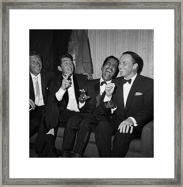 Rat Pack At Carnegie Hall Framed Print