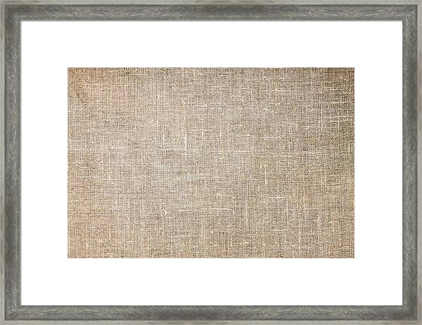 Raw Natural Linen Framed Print
