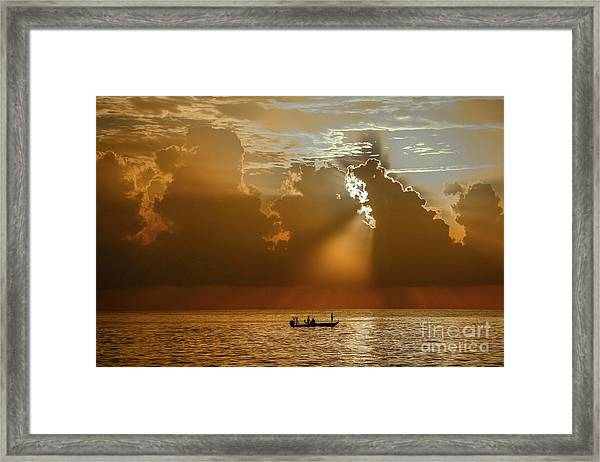 Framed Print featuring the photograph Rays Light The Way by Tom Claud
