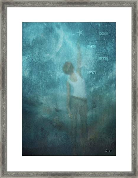 Reach For The Stars Framed Print by Norma Slack
