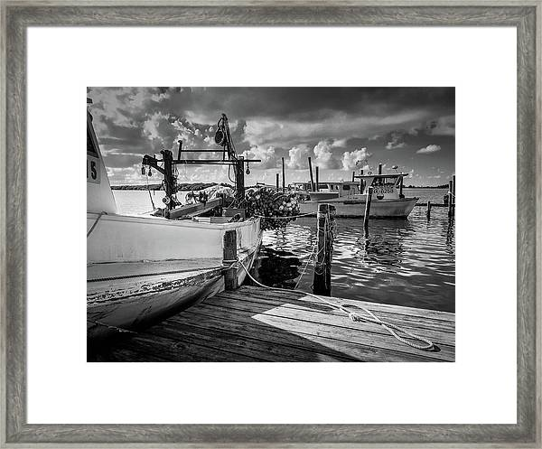 Ready To Go In Bw Framed Print