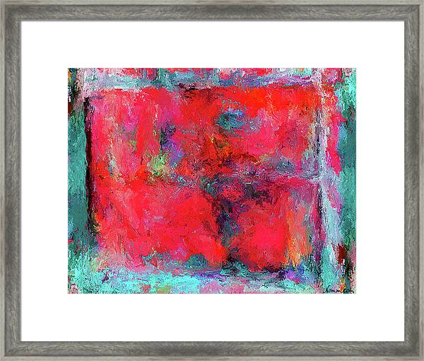 Rectangular Red Framed Print