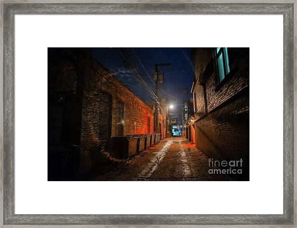 Red Alley Framed Print