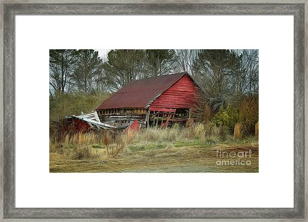 Red Barn Framed Print by Elijah Knight