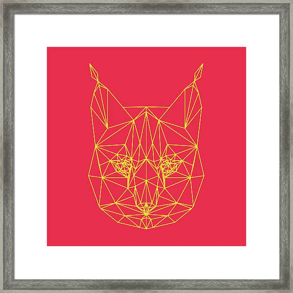 Red Bobcat Framed Print