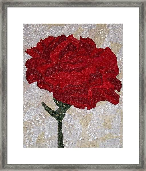 Red Carnation Framed Print