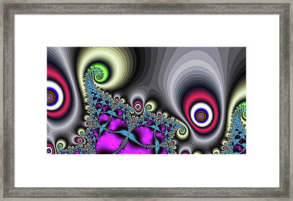 Red Circus Eyes Framed Print