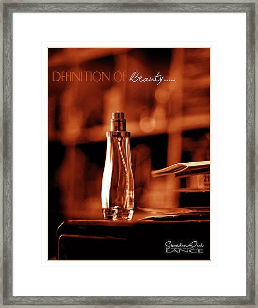 Red Definition Of Beauty Framed Print