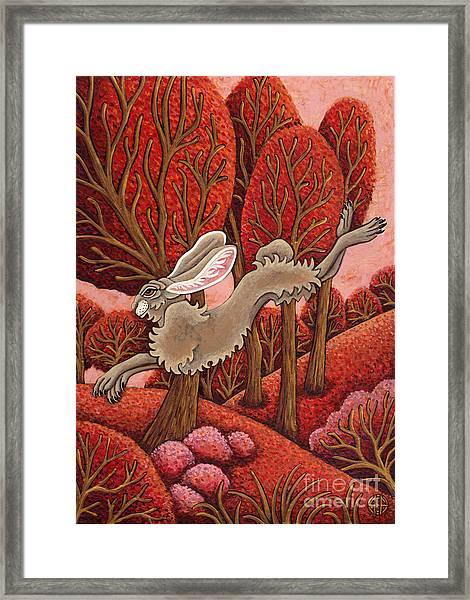 Red Forest Run Framed Print