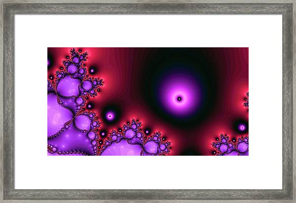 Red Glowing Bliss Abstract Framed Print