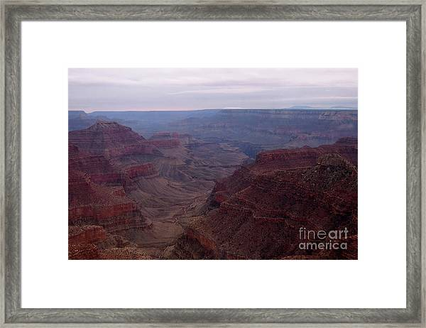 Red Grand Canyon Framed Print