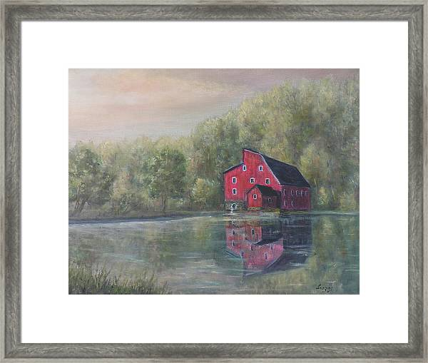 Red Mill Clinton New Jersey Framed Print