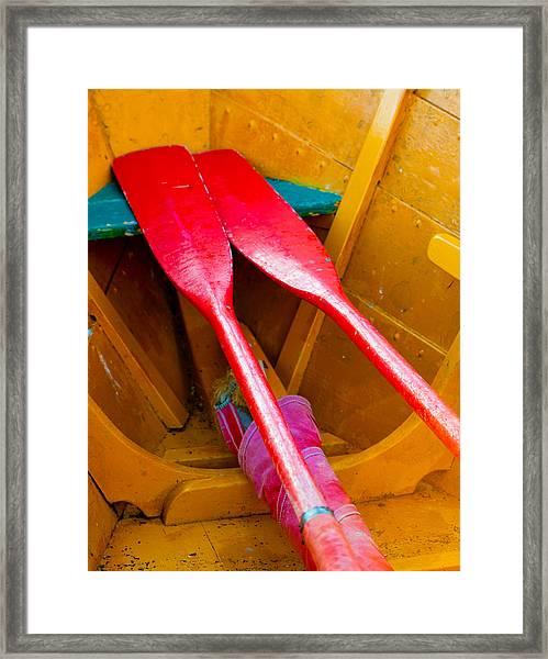 Red Oars Framed Print