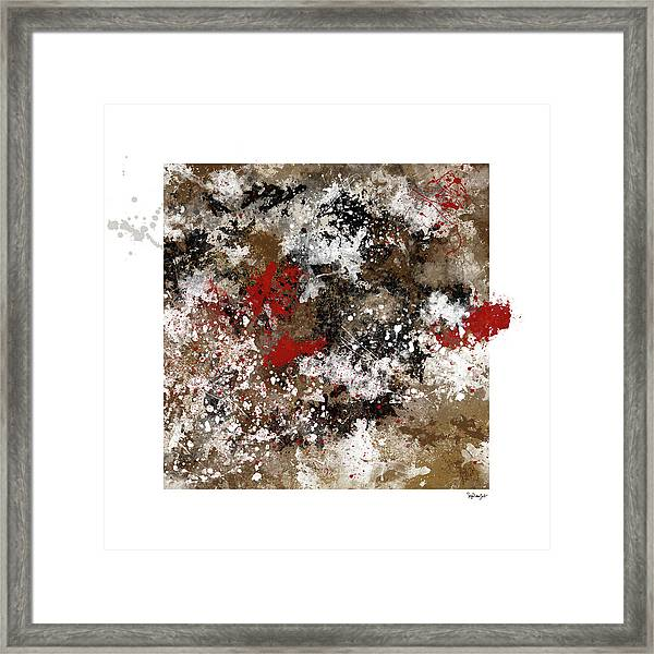 Red Splashes Framed Print