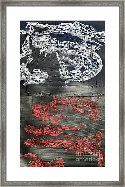 Red Strangles White Cells Framed Print