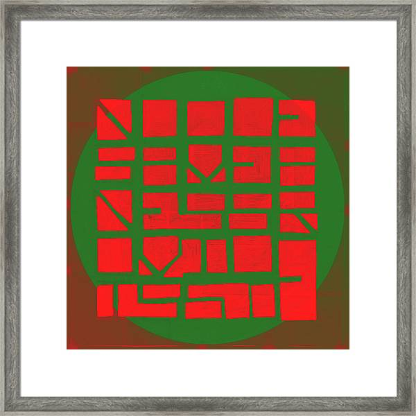 Red To Green - Nucle Framed Print