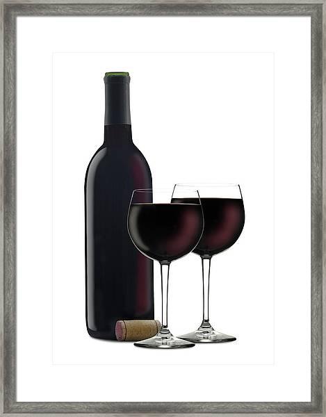 Red Wine II Framed Print by Pixhook