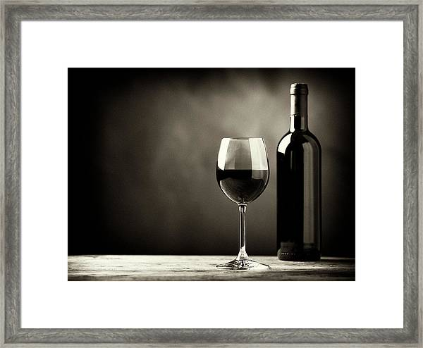 Red Wine Framed Print by Kaisersosa67