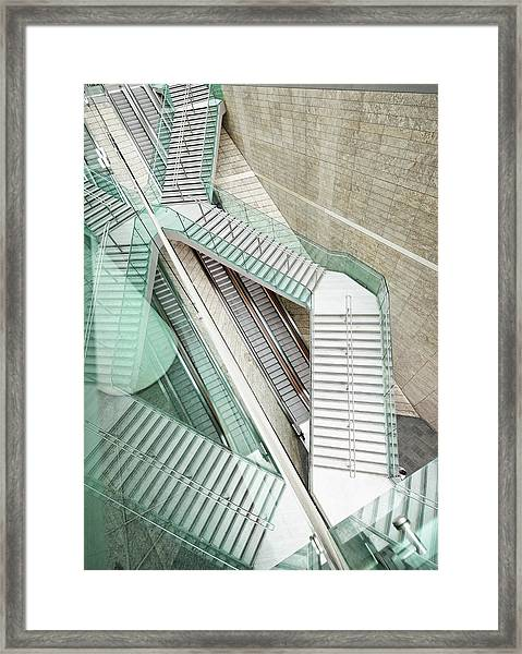 Reflected Modern Architecture - Winding Framed Print by Georgeclerk