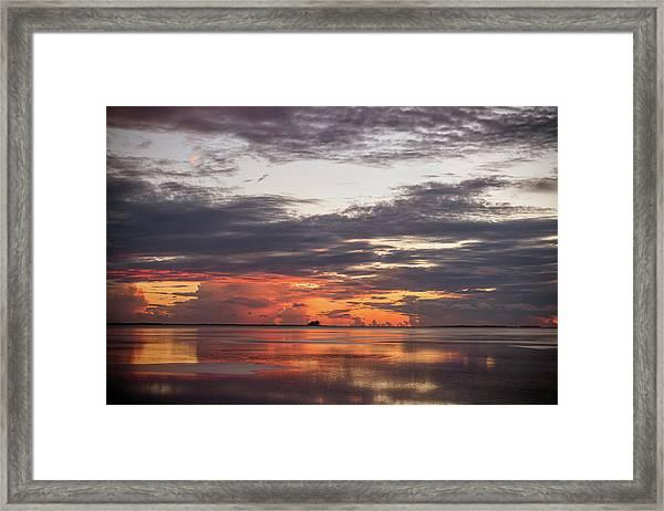 Reflected Sunset Framed Print